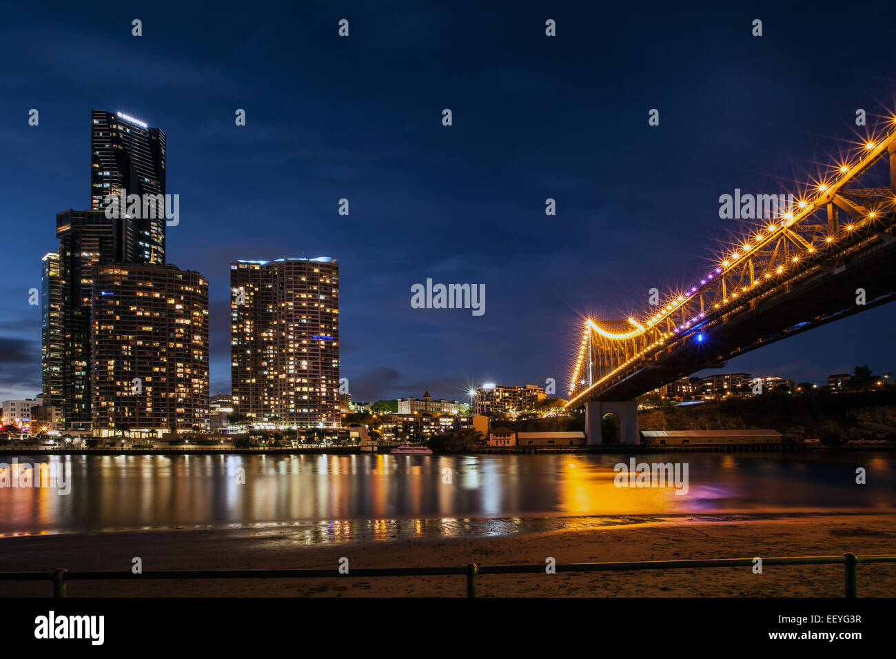 Storey Bridge Brisbane - Stock Image