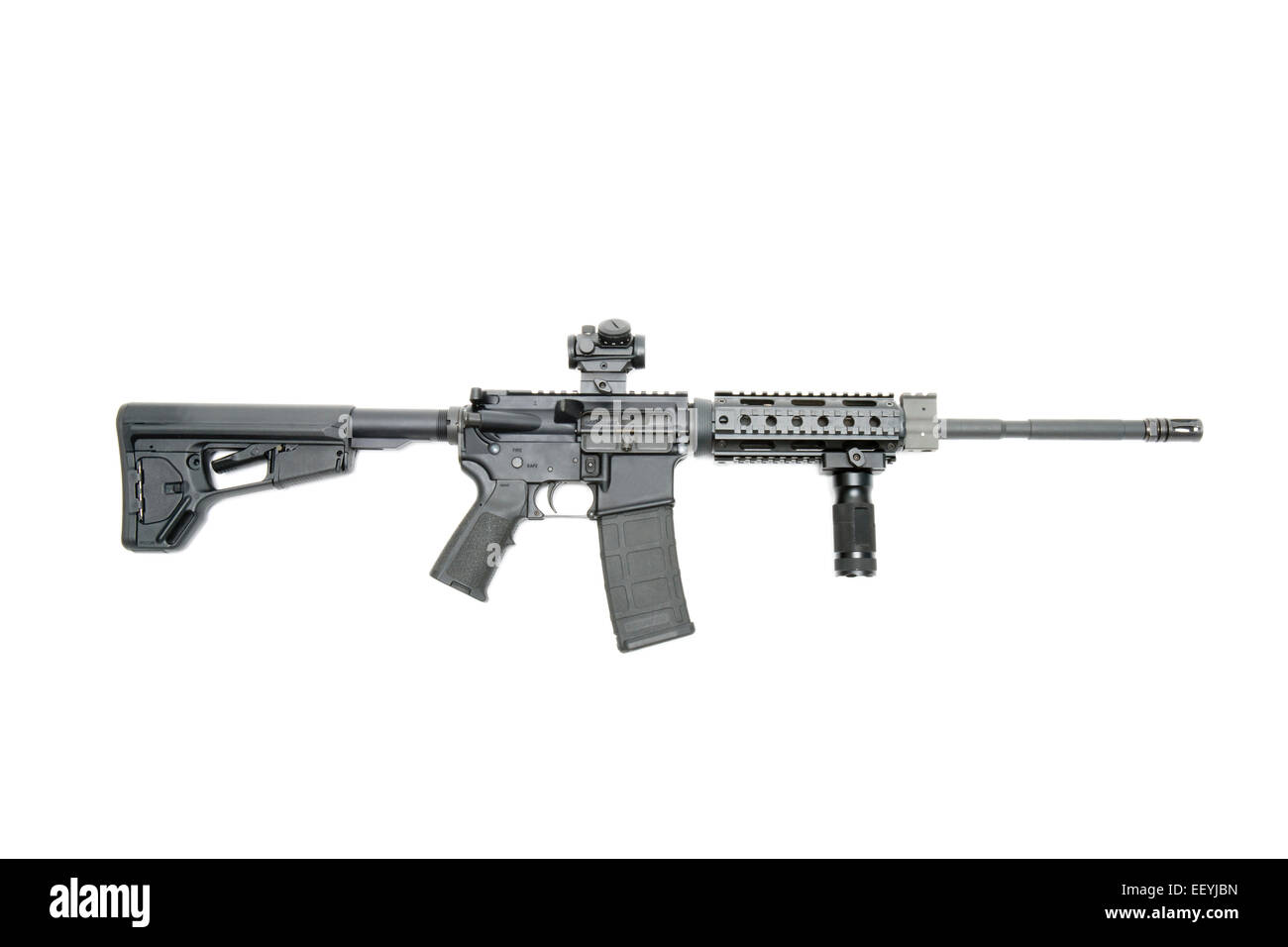 AR15 tactical rifle - Stock Image
