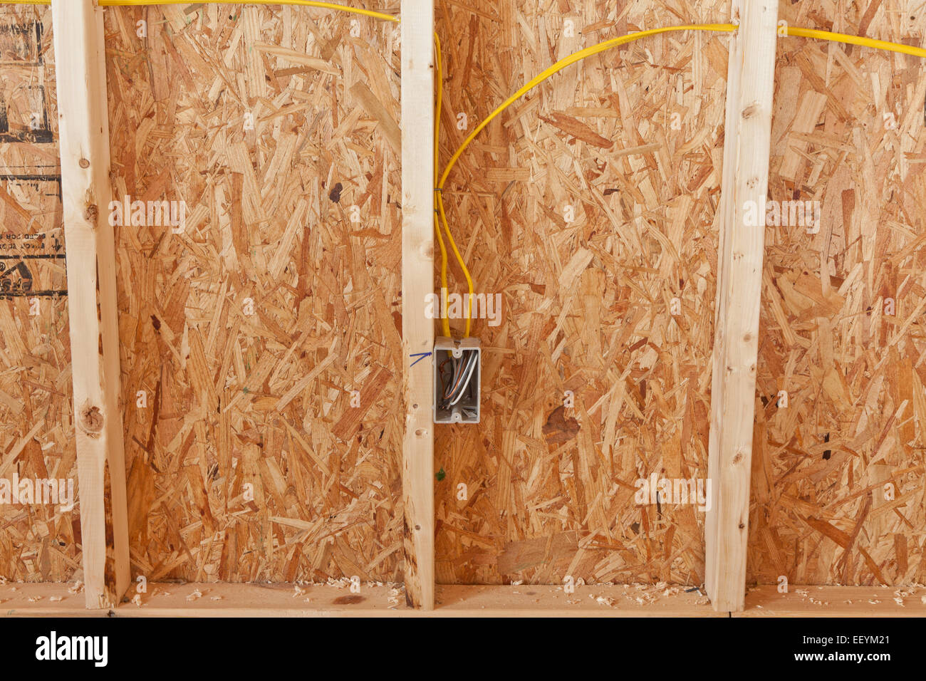 new electrical wiring in house stock photos new electrical wiring rh alamy com Residential Wiring New House Wiring Diagram