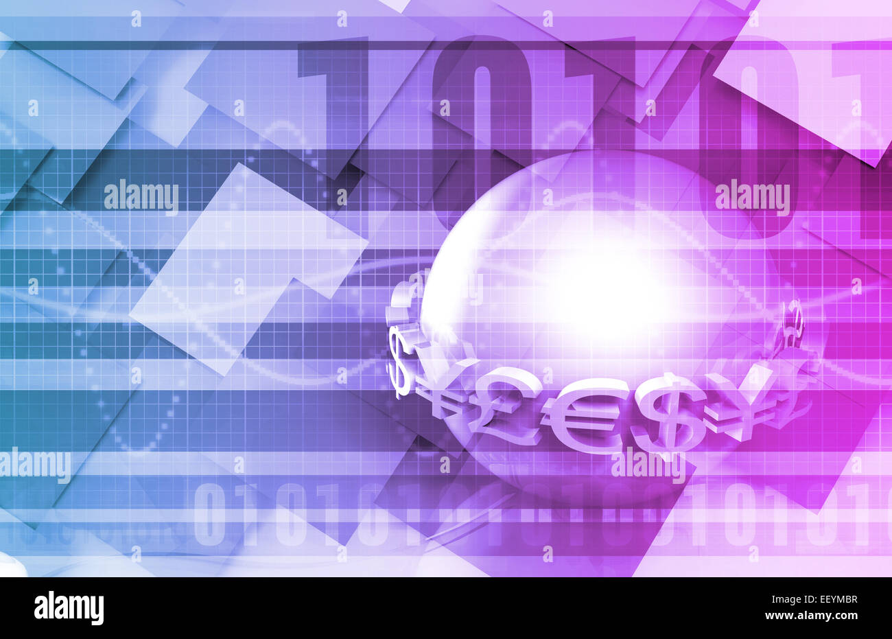 Global Currencies as a Presentation Abstract for Money - Stock Image