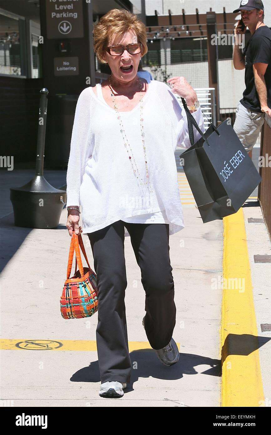 Judge Judy leaves Jose Eber hair salon in Beverly Hills  Featuring: Judge Judy Where: Los Angeles, California, United - Stock Image