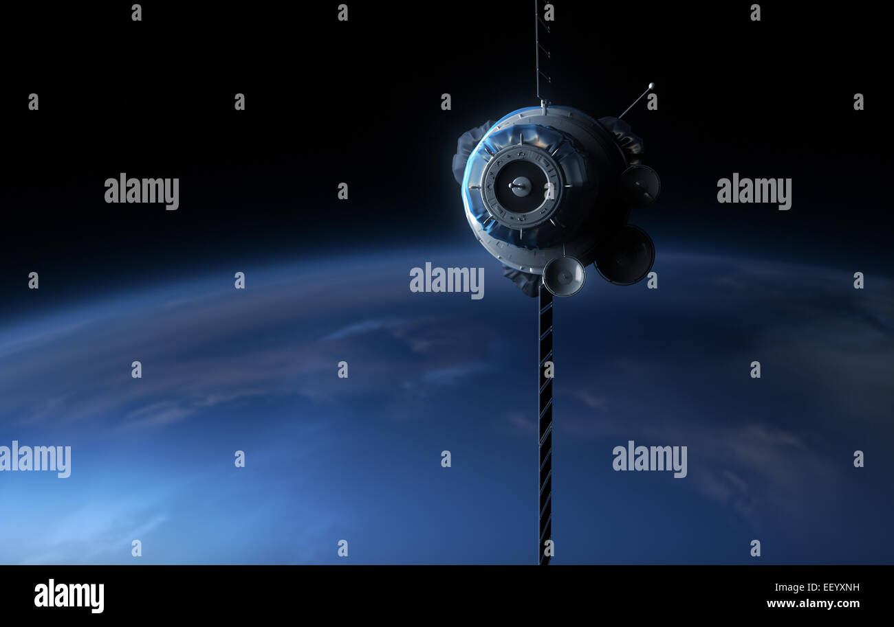 3d satellite in the space. - Stock Image