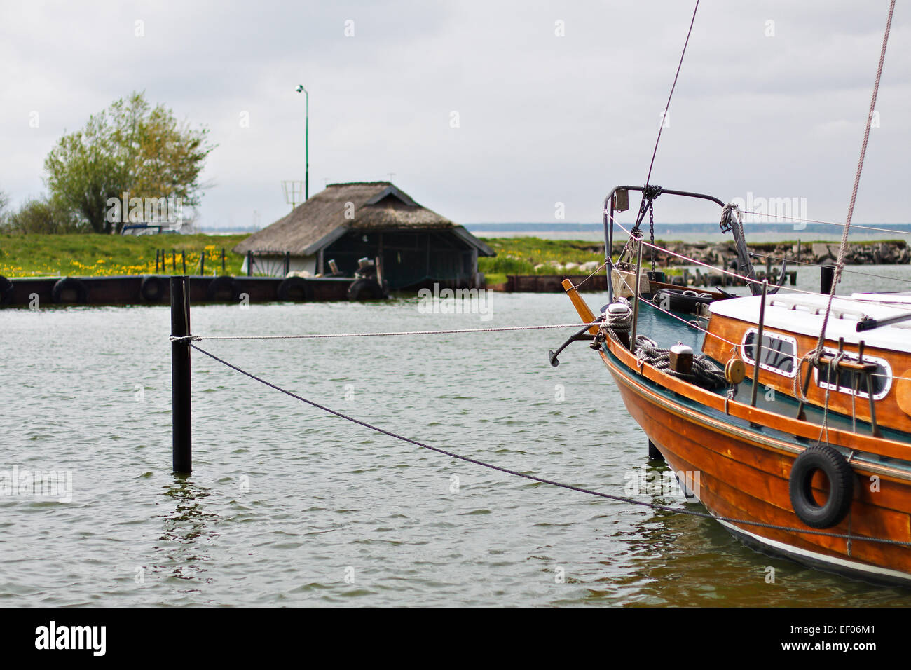 A port on the fish-Darß. - Stock Image