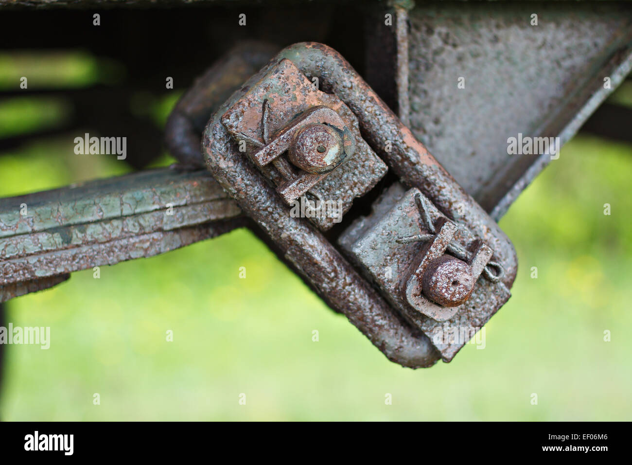 Detail of a wagon. - Stock Image