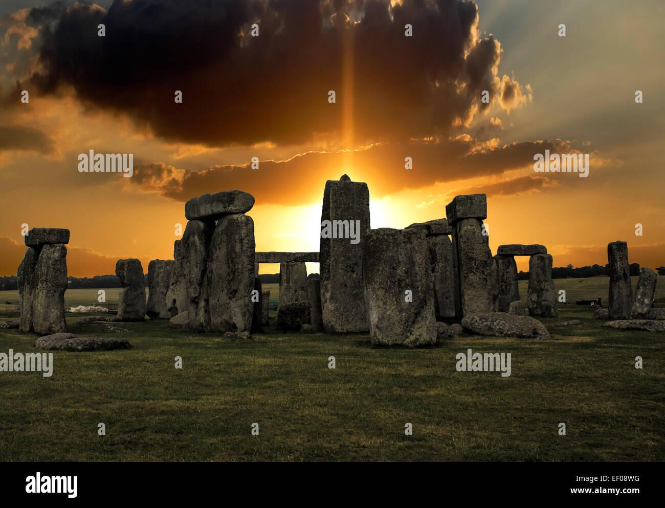 Stonehenge Sunrise Stock Photo