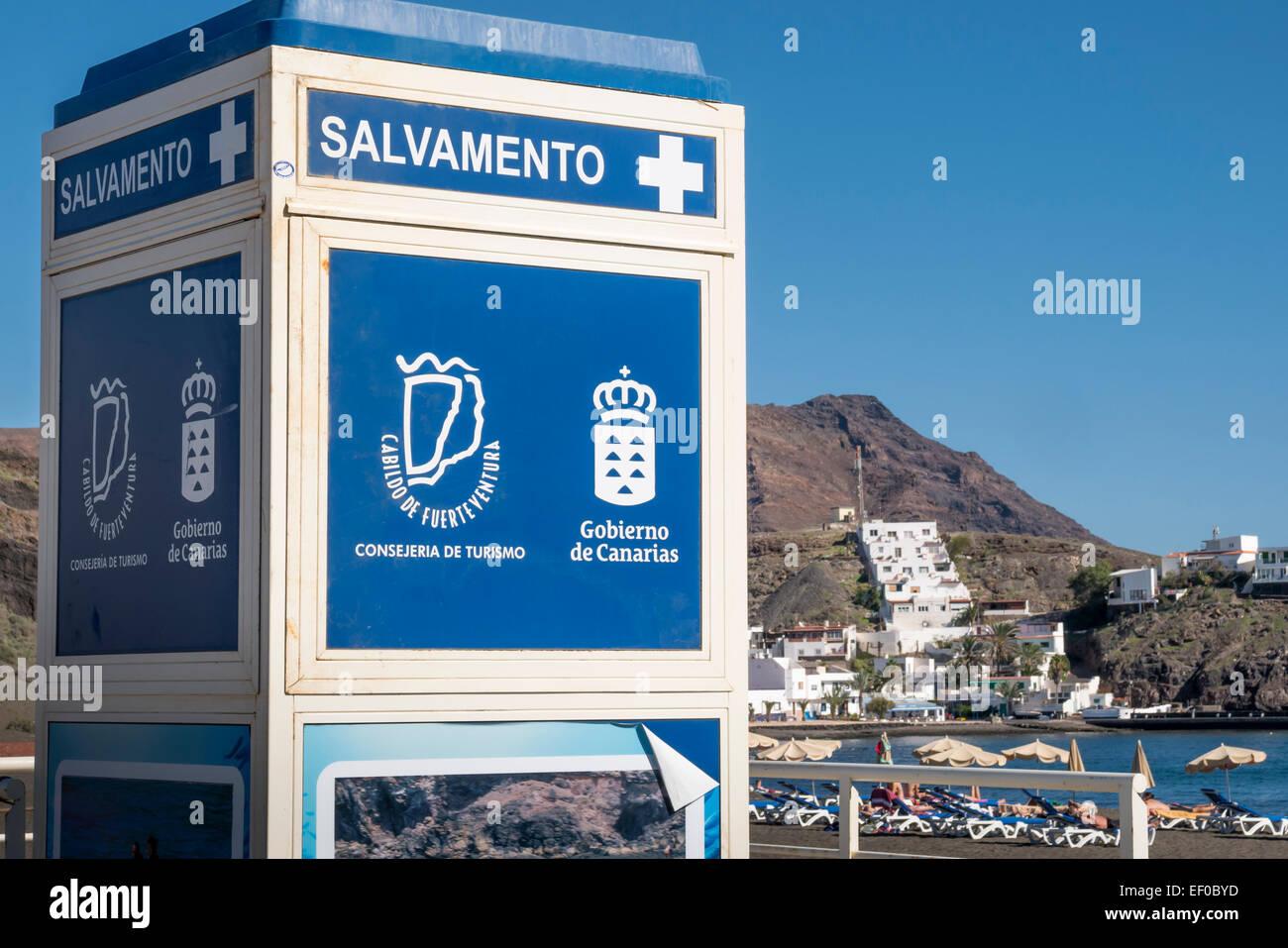 Salvamento Life saving place of safety Las Playitas Tuineje Fuerteventura Canary Islands Spain - Stock Image