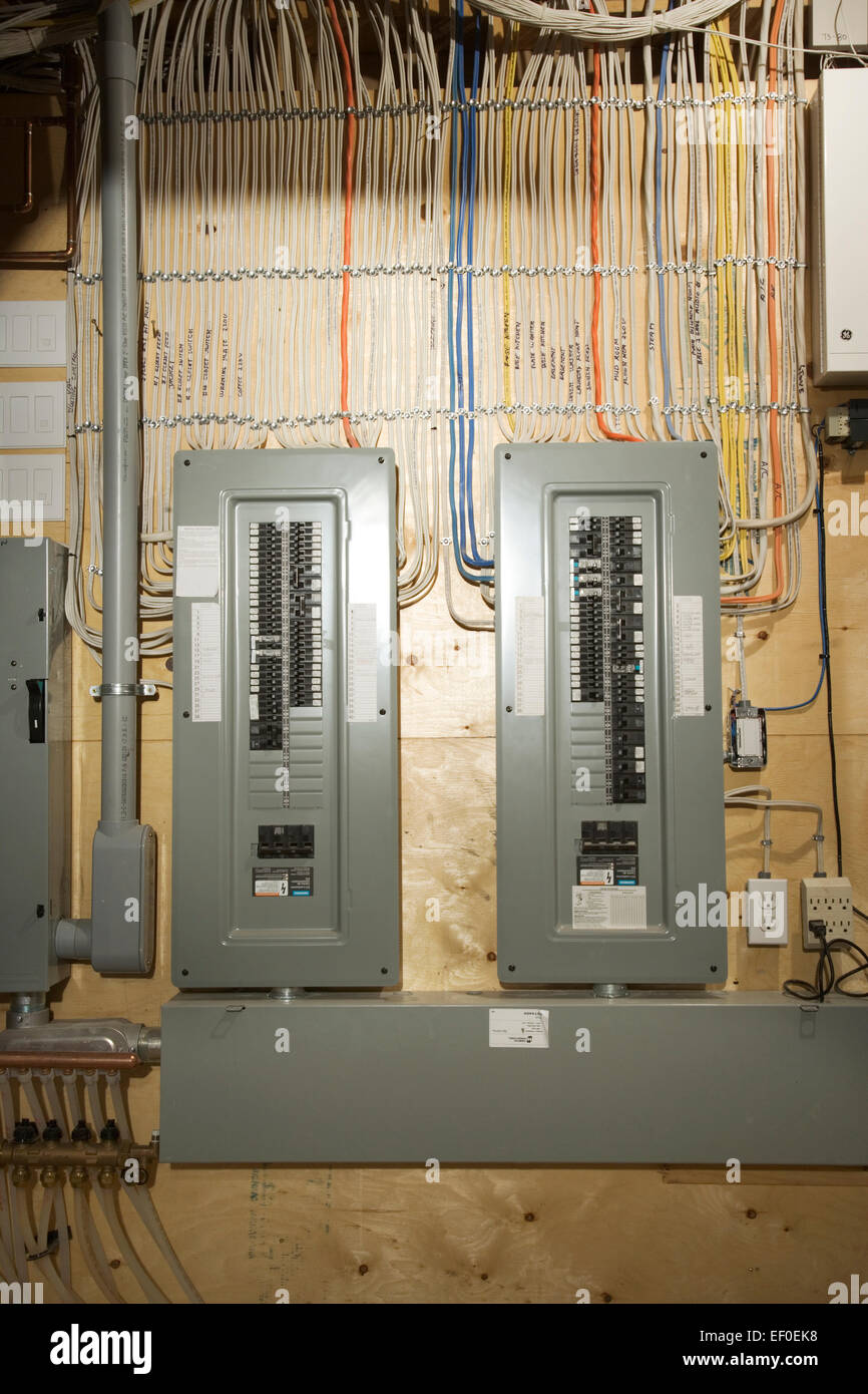 Electrical Panel in house Stock Photo: 78072828 - Alamy