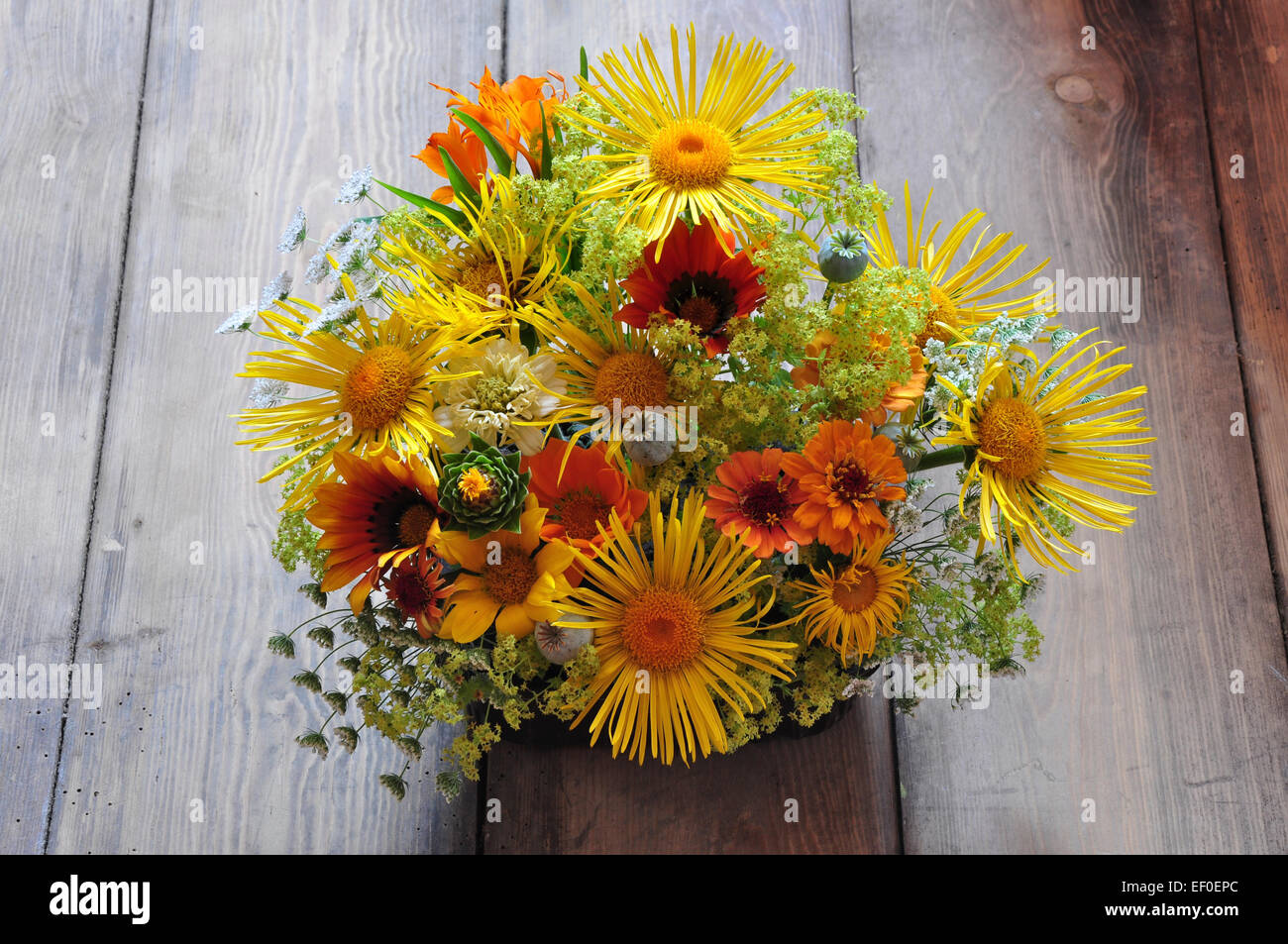 Cut flower arrangement with yellow and orange summer flowers uk cut flower arrangement with yellow and orange summer flowers uk mightylinksfo