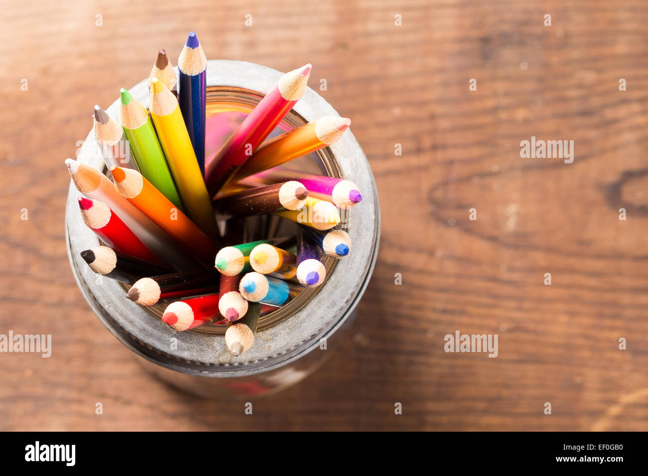 Coloured Pencil Crayons - Stock Image
