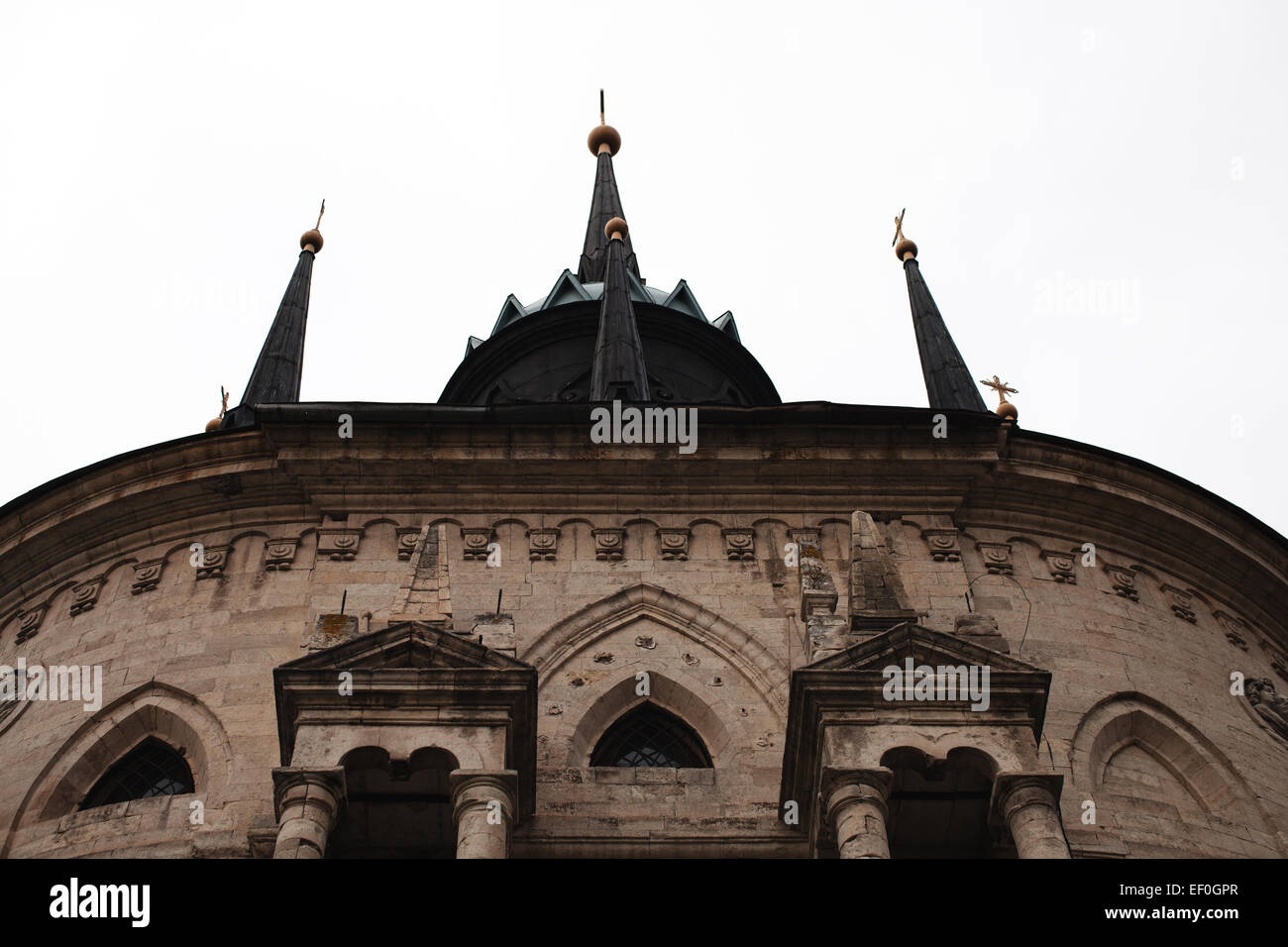 The Spiers On Roof Of A Gothic Church