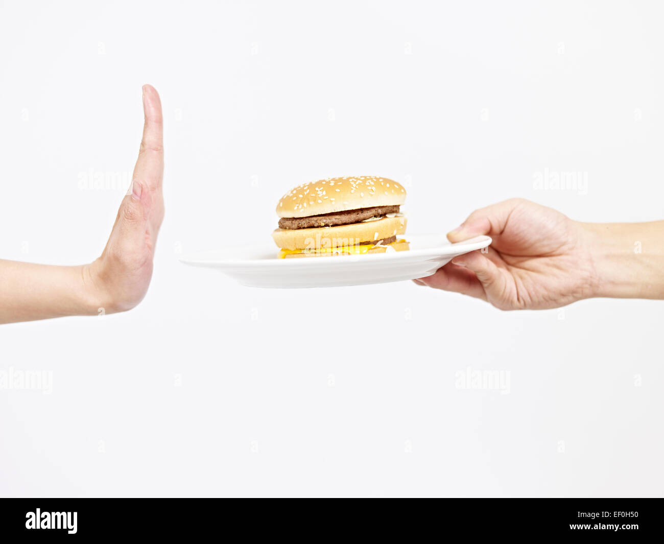 refuse junk food - Stock Image