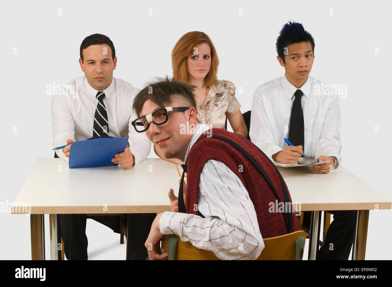Man at a business interview - Stock Image