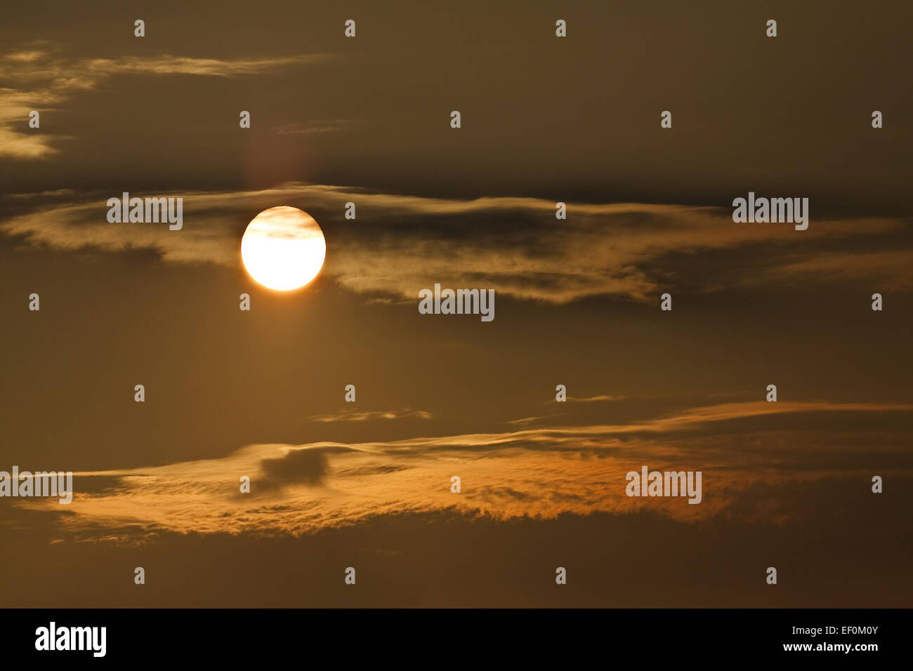 A sunset. - Stock Image