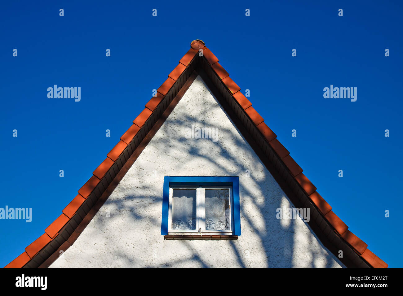 A house gable. - Stock Image