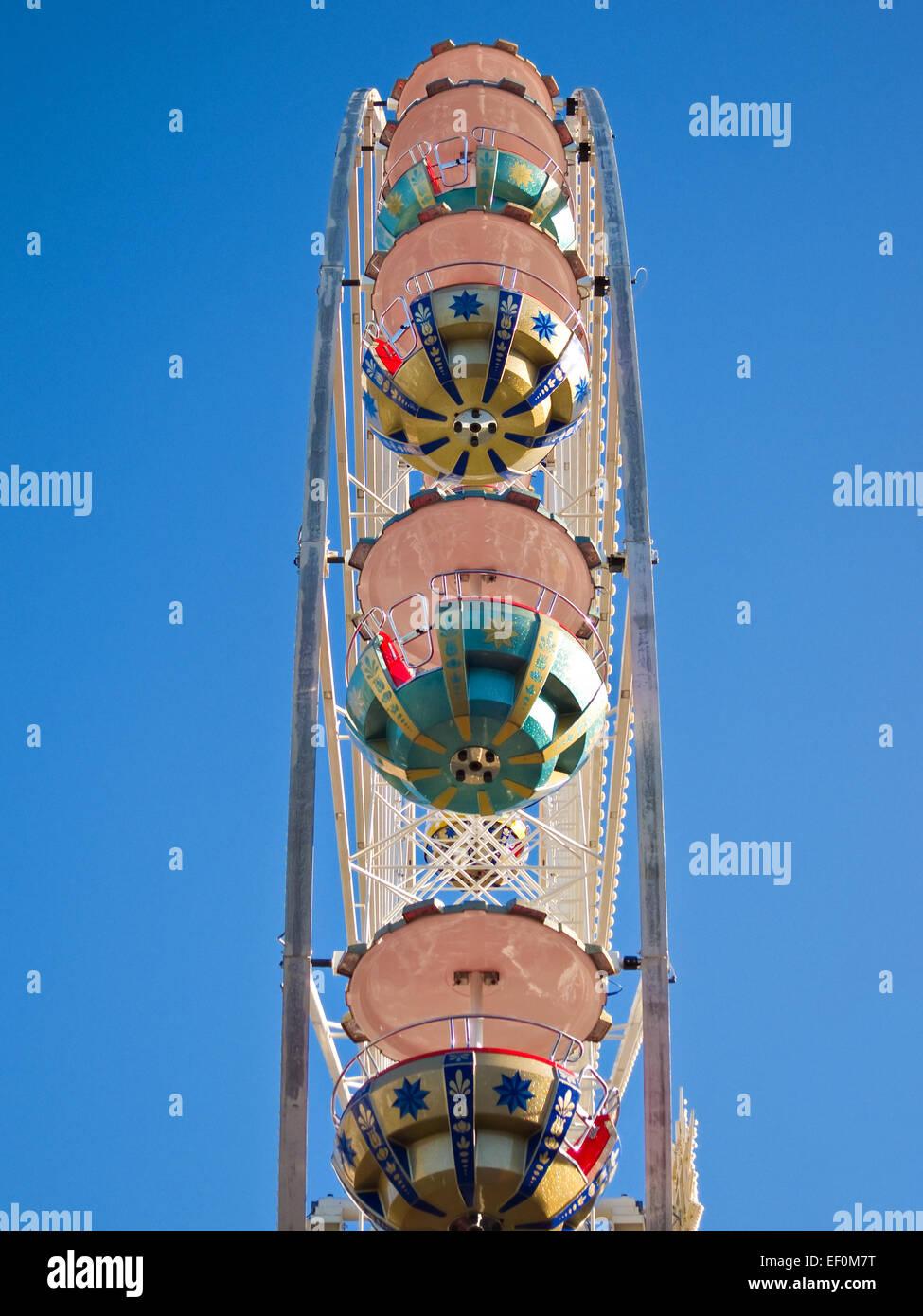 A Ferris wheel. - Stock Image