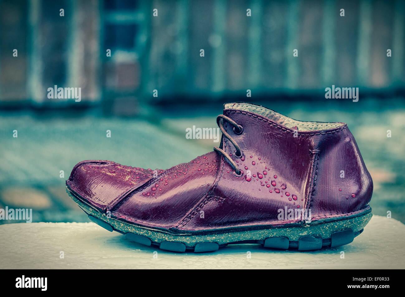 A single shoe. - Stock Image