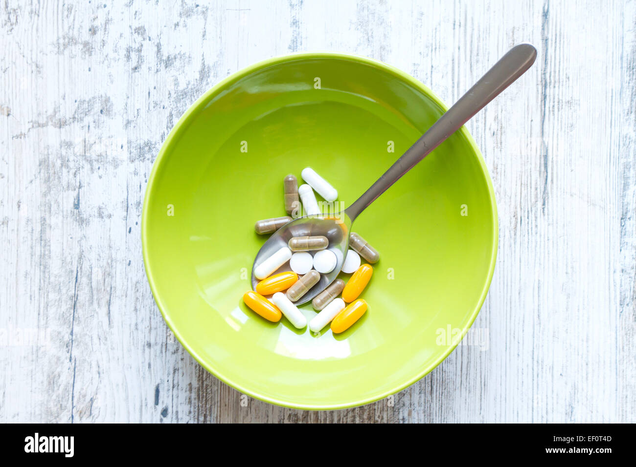 Vitamins and dietary supplements - Stock Image