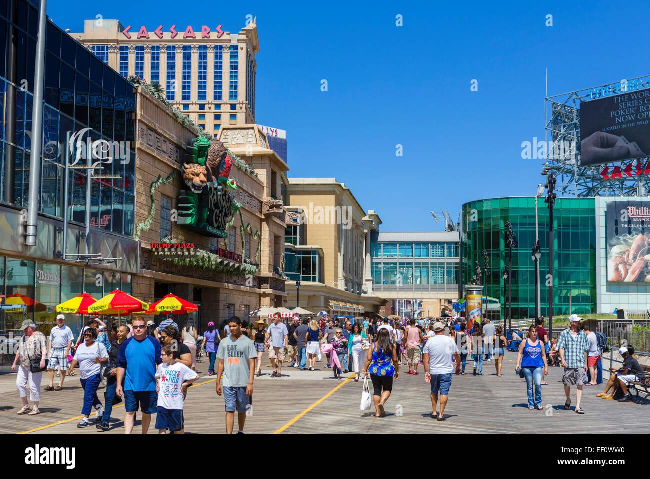 The boardwalk in Atlantic City, New Jersey, USA - Stock Image