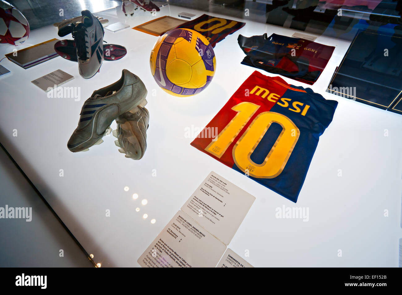 BARCELONA - SPAIN, DECEMBER 19: The FC Barcelona museum inaugurated on 24 September 1984.The museum occupies 3,500 - Stock Image
