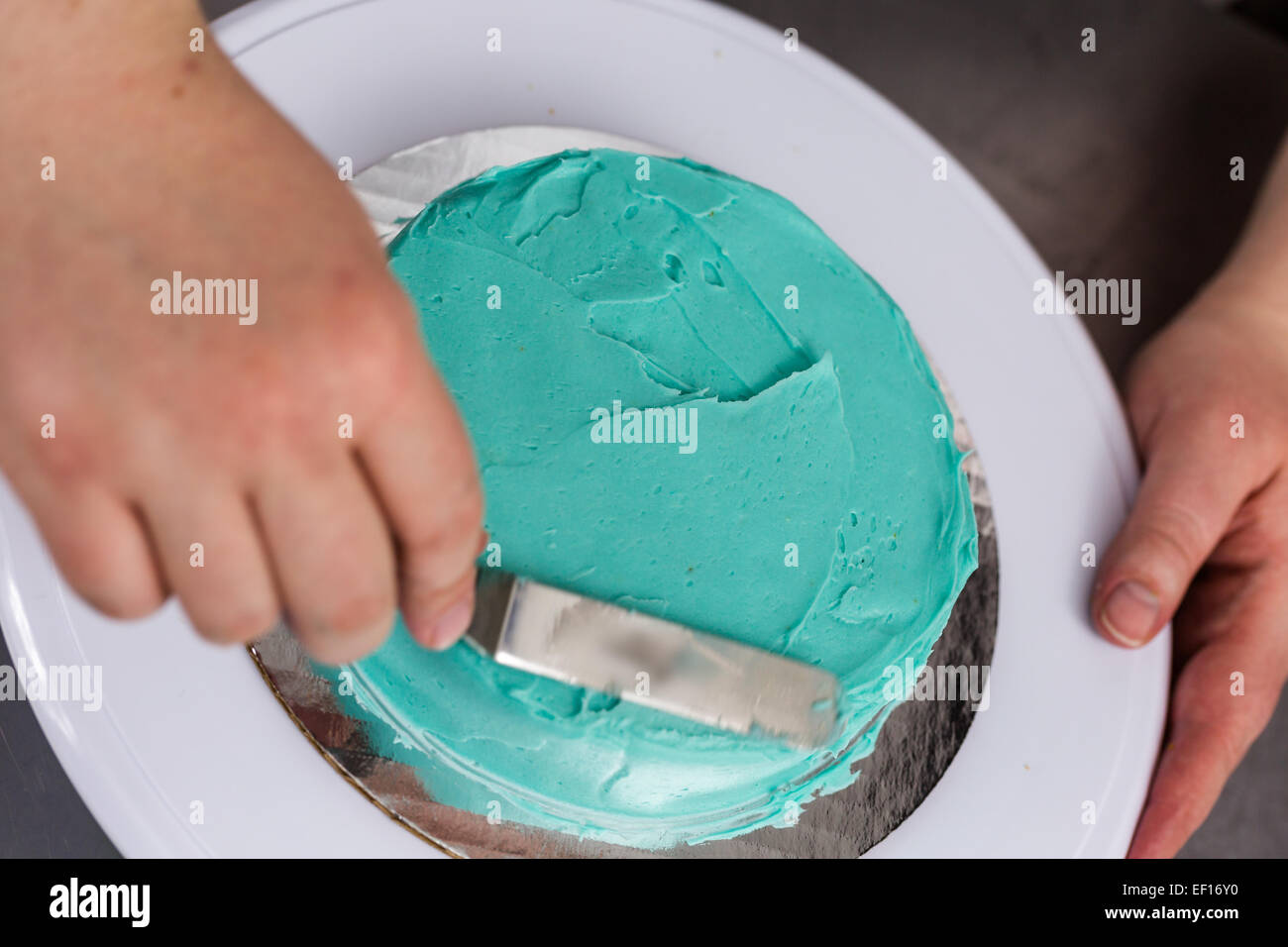 Making Small Birthday Cake Toddlers Stock Photos Making Small