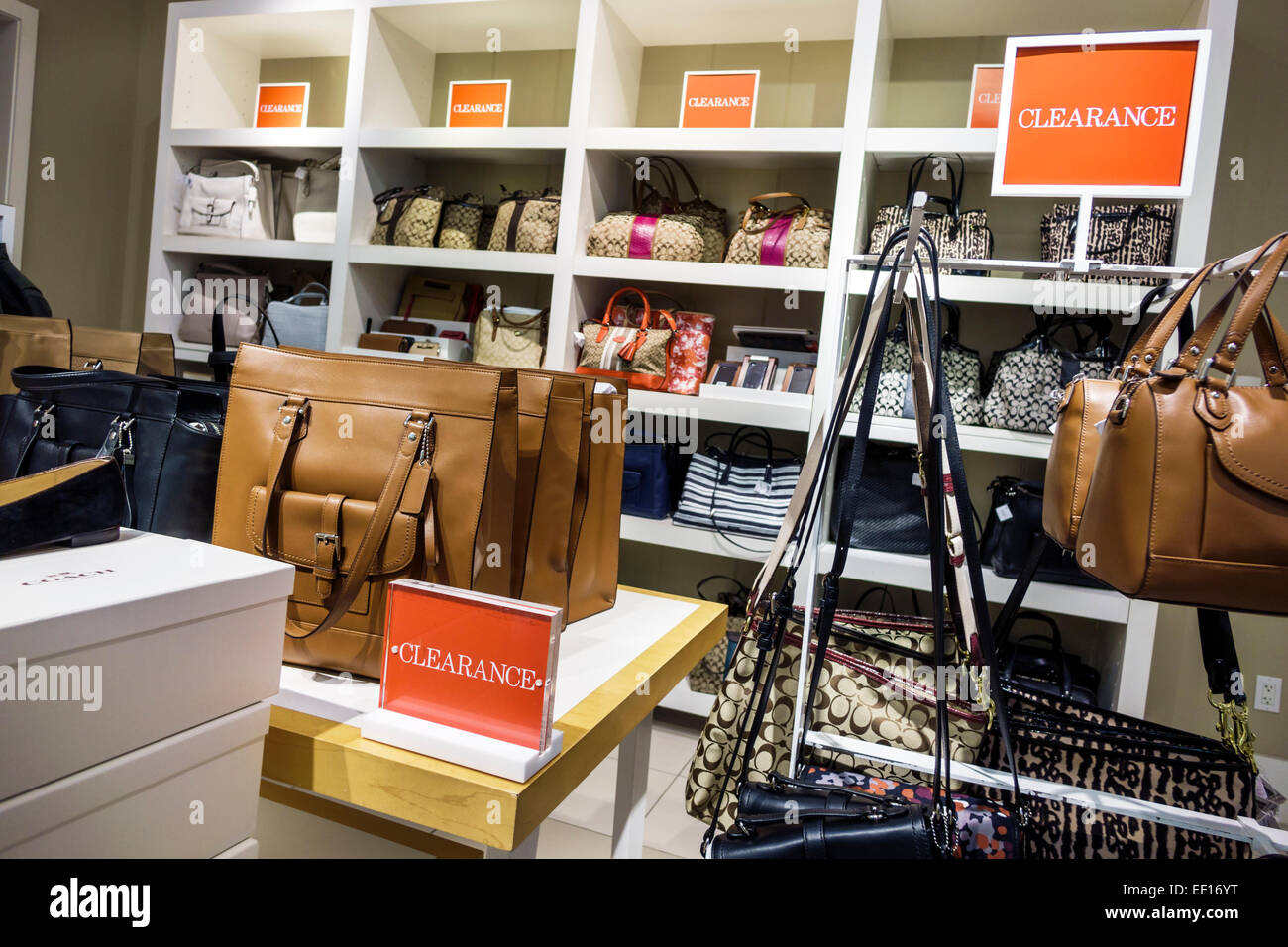7731af1124 Vero Beach Florida Vero Beach Outlets shopping Coach store inside women s  handbags sale display sign clearance promotion