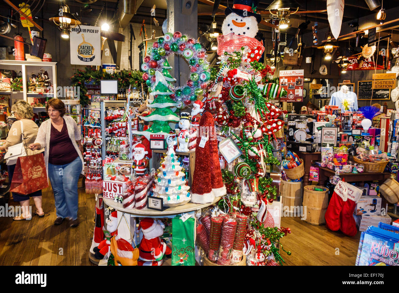 Florida, FL, South, Vero Beach, Cracker Barrel Country Store, shopping shopper shoppers shop shops market markets marketplace buying selling, merchant Stock Photo