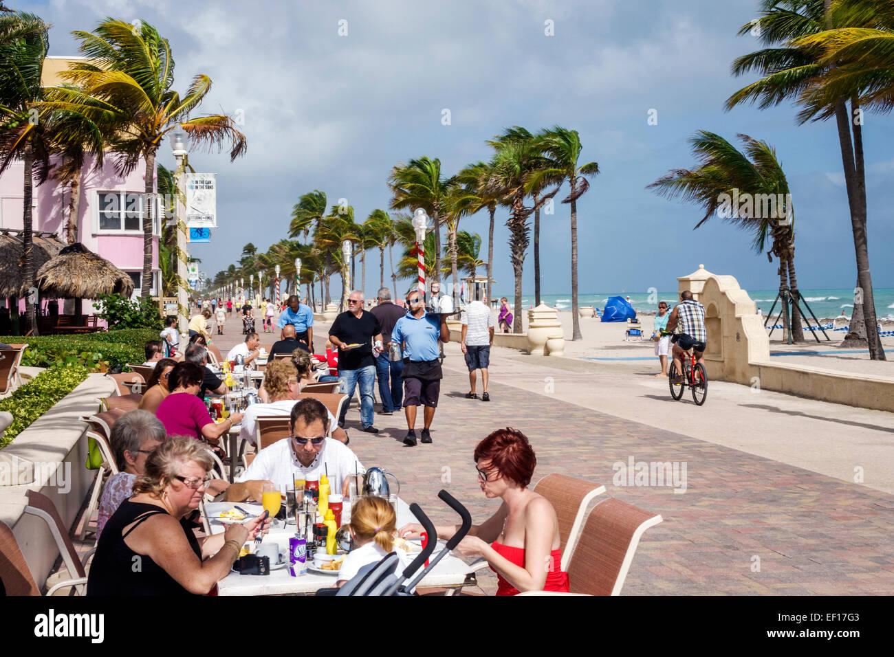 Hollywood Florida North Broadwalk Boardwalk Pedestrian Way