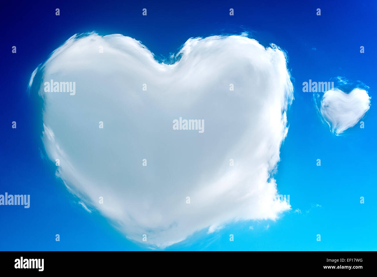 heart shaped clouds in the sky love supernatural stock photo