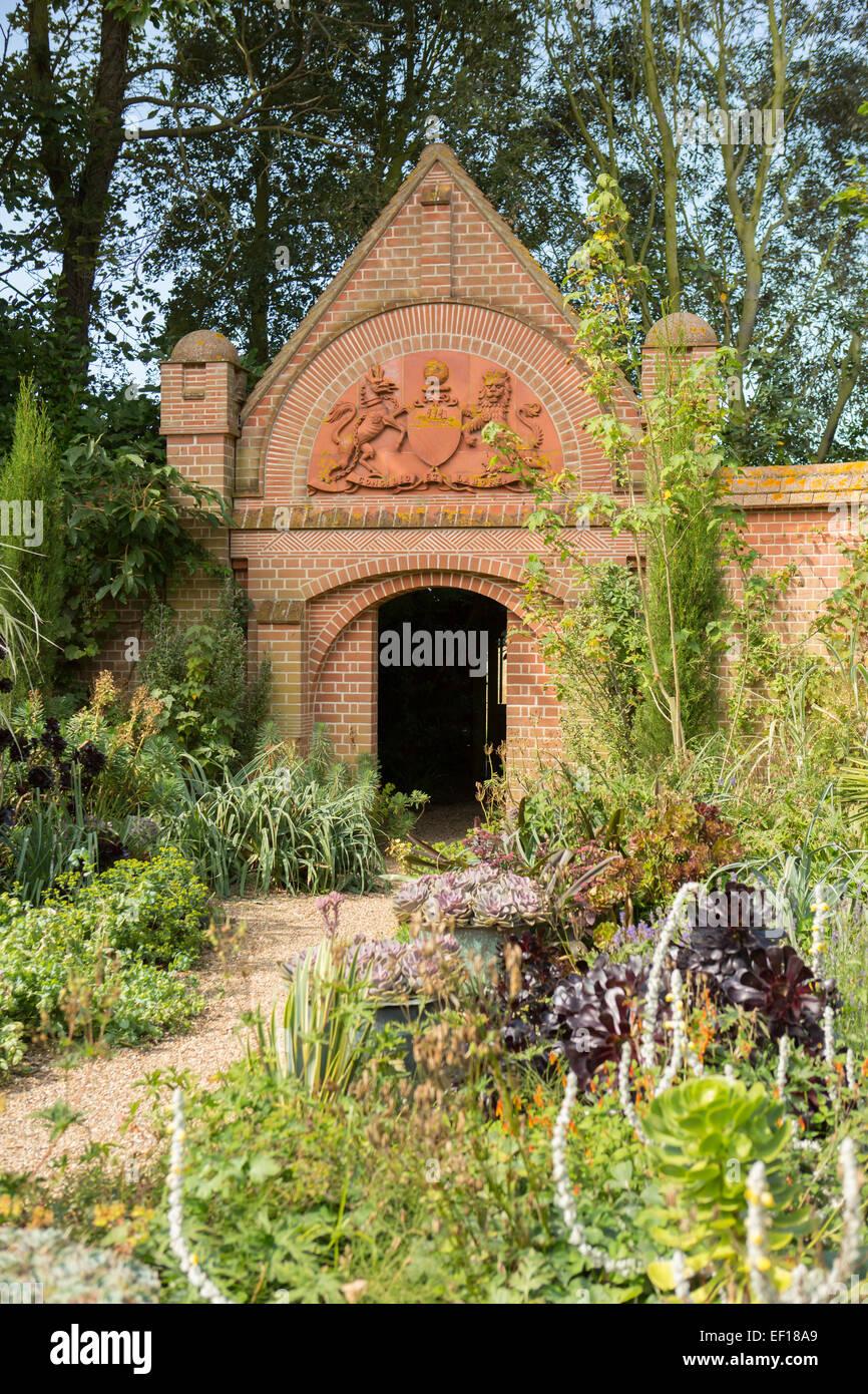 Succulent desert garden at East Ruston Old Vicarage Gardens, Norfolk - Stock Image