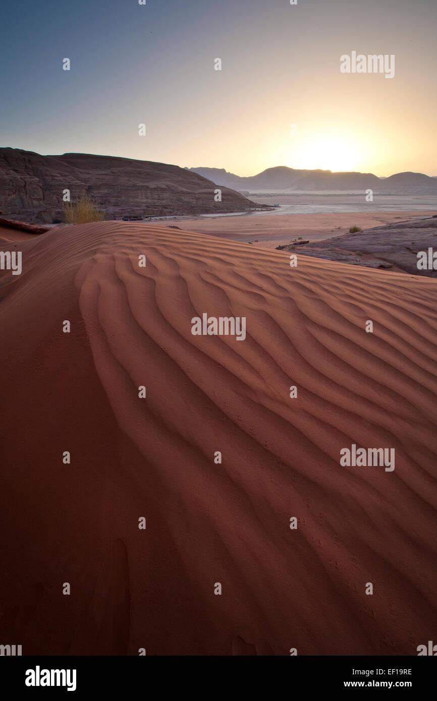wadi Rum landscape - Stock Image