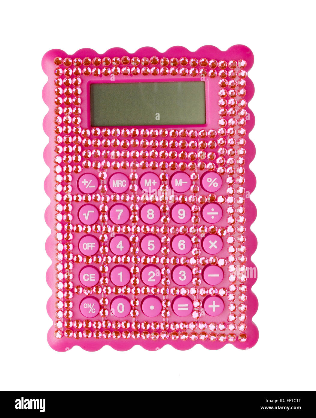 Pink bling Calculator - Stock Image