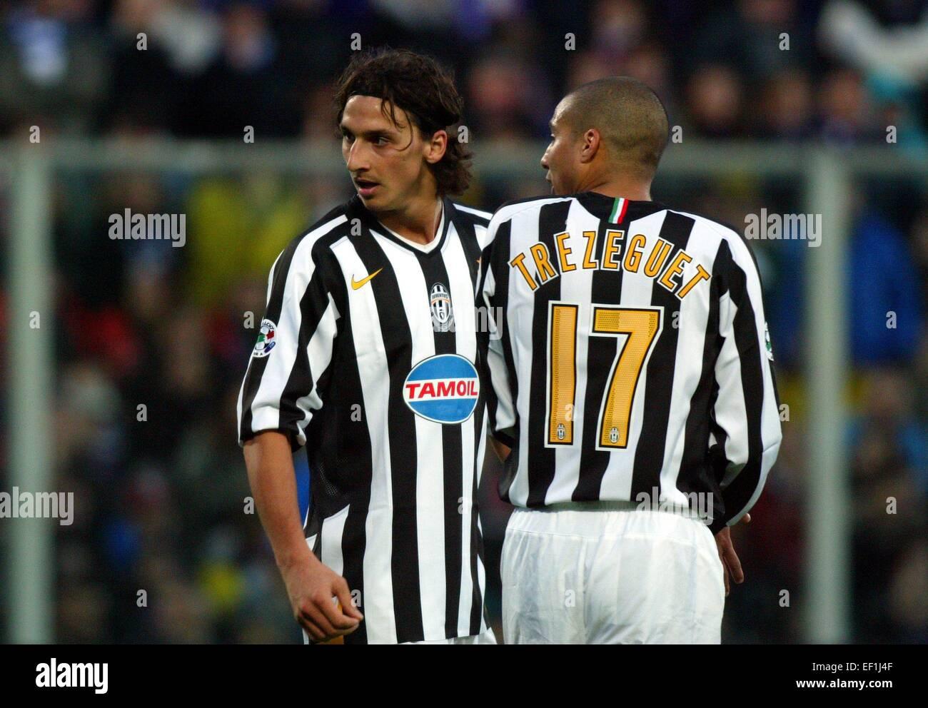 big sale 0248d f902e Zlatan IBRAHIMOVIC et David TREZEGUET - Fiorentina/Juventus ...