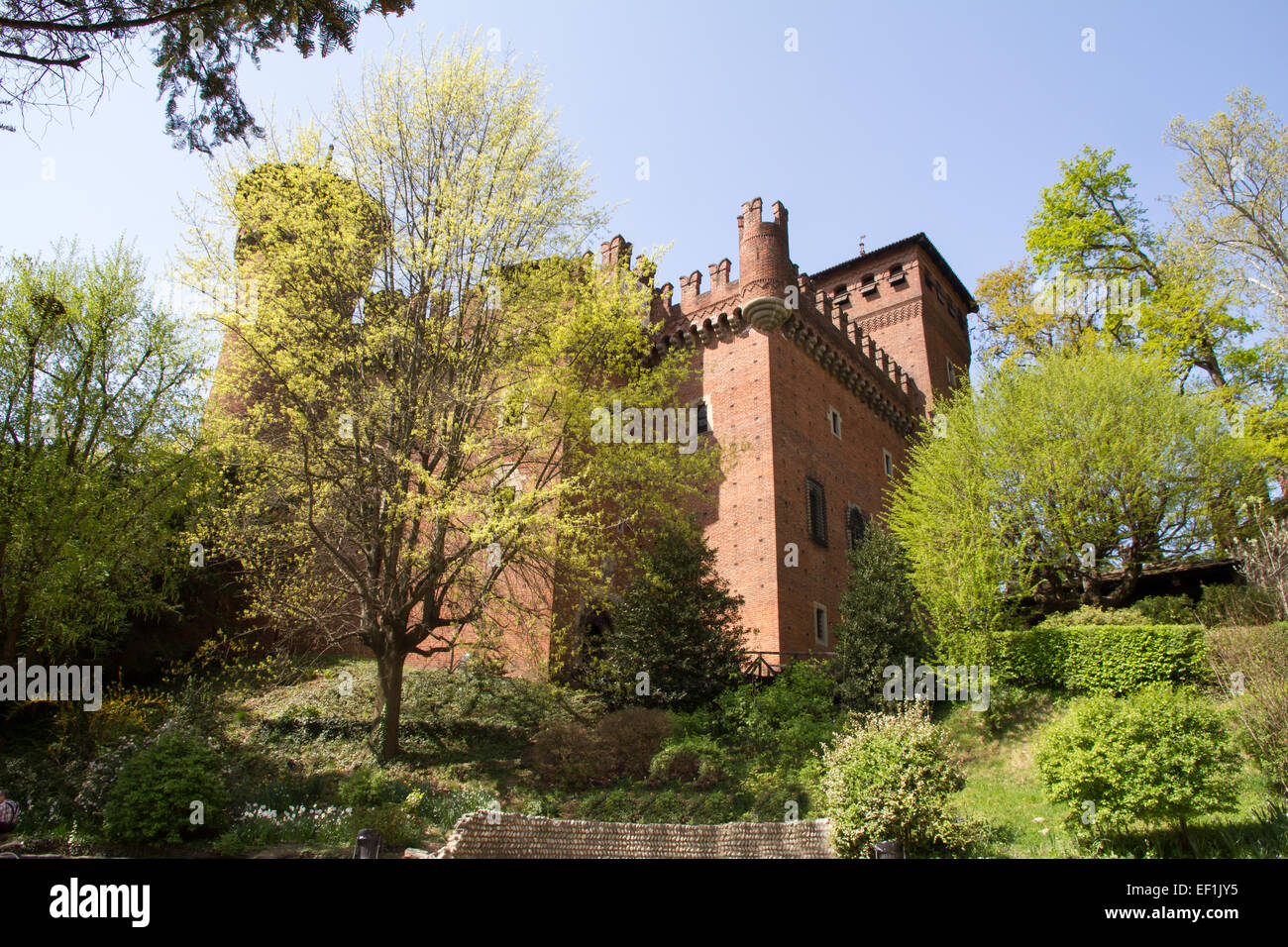 The castle of the medieval town, Turin, Italy Stock Photo