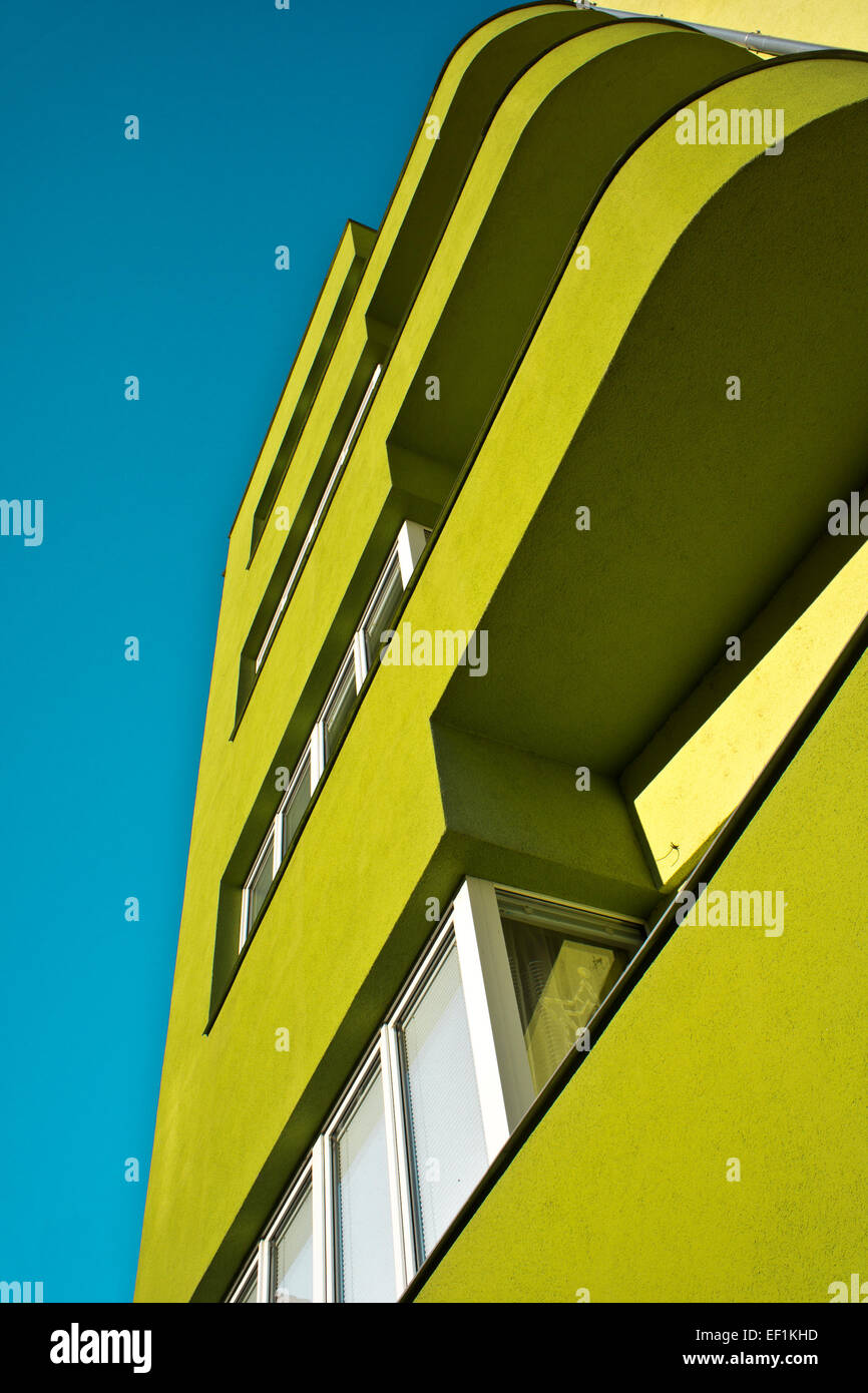 abstract modern residential building - Stock Image