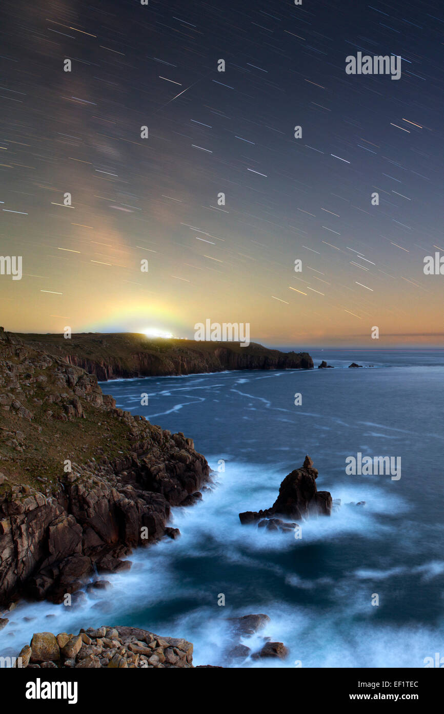 Shooting Star; Land's End; Cornwall; UK - Stock Image