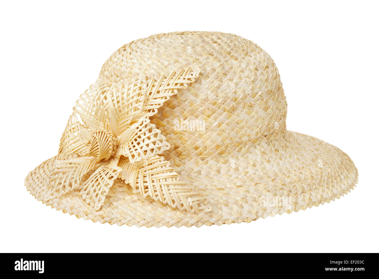 straw hat, isolated on white Stock Photo