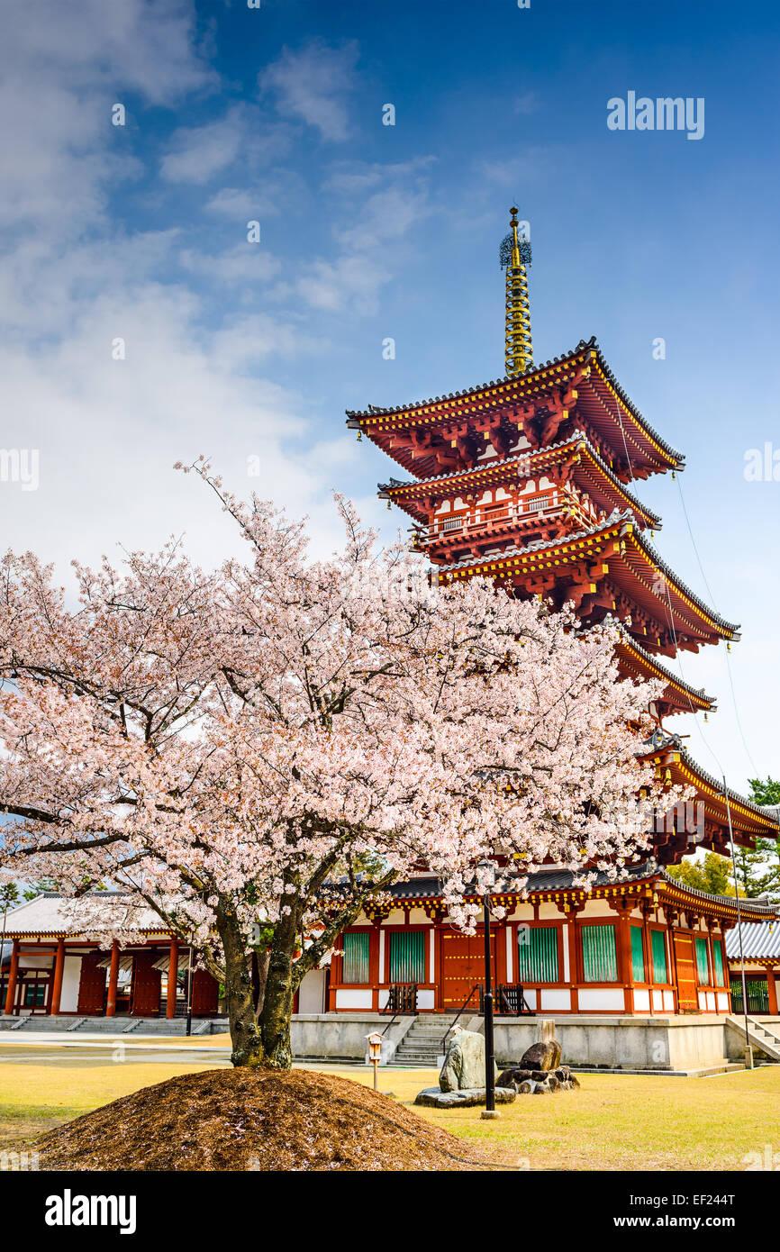 Nara, Japan at the Pagoda of Yakushi-ji Temple. - Stock Image