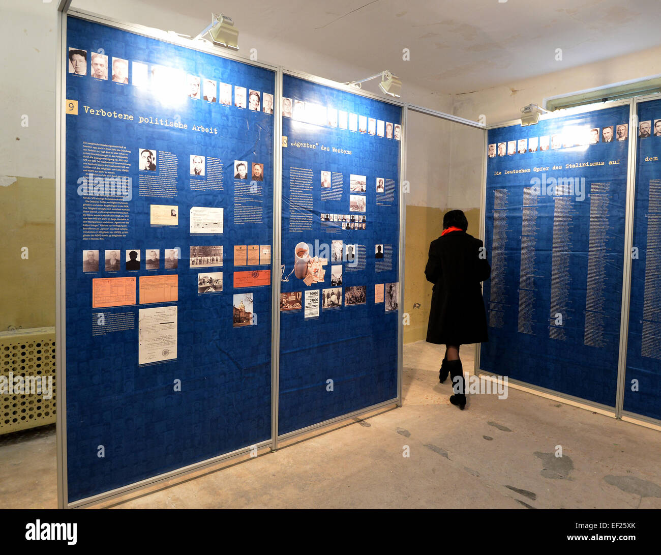 Potsdam, Germany. 21st Jan, 2015. The exhibition 'Erschossen in Moskau' (lit. shot in Moscow) is being shown - Stock Image