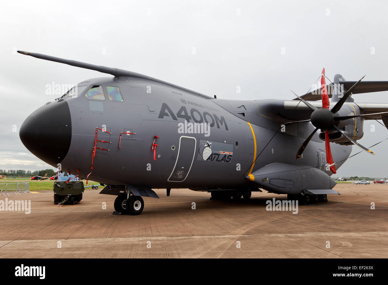 A Royal Air Force Airbus Military A400M Atlas transport aircraft at the 2012 Royal International Air Tattoo, RAF - Stock Image