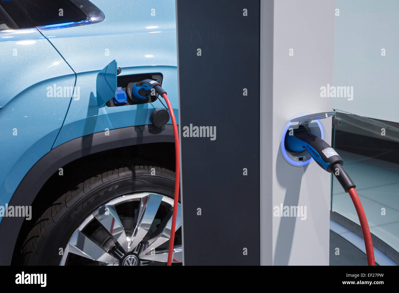 Detroit, Michigan - The VW Cross Coupé GTE concept plug-in hybrid car on display at the North American International - Stock Image