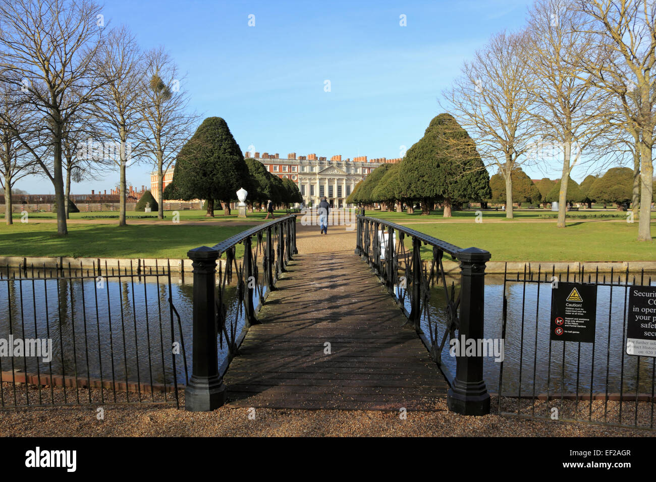 Hampton Court Palace. - Stock Image