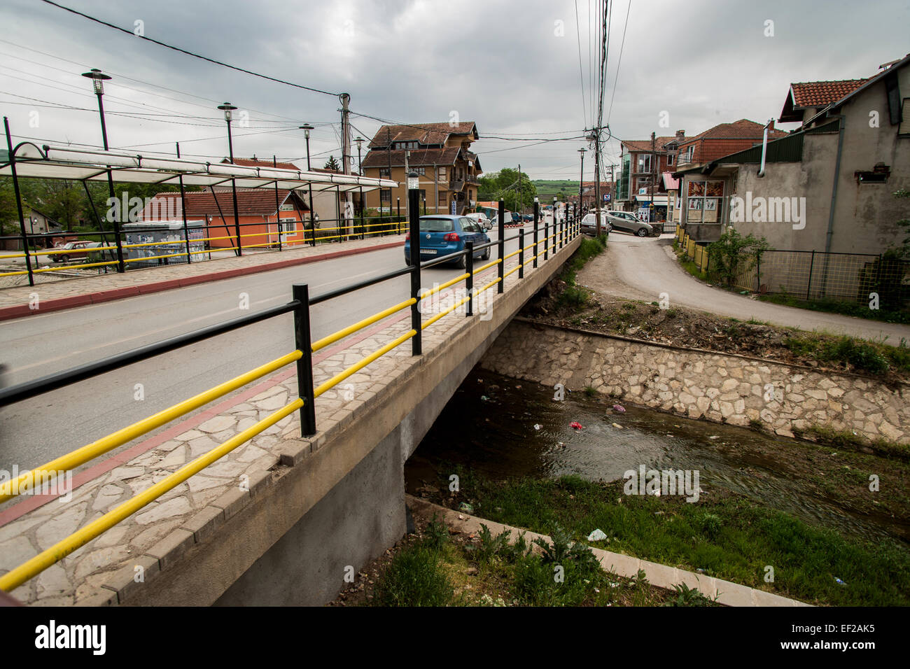 Serb enclave of Gračanica in Kosovo - Stock Image