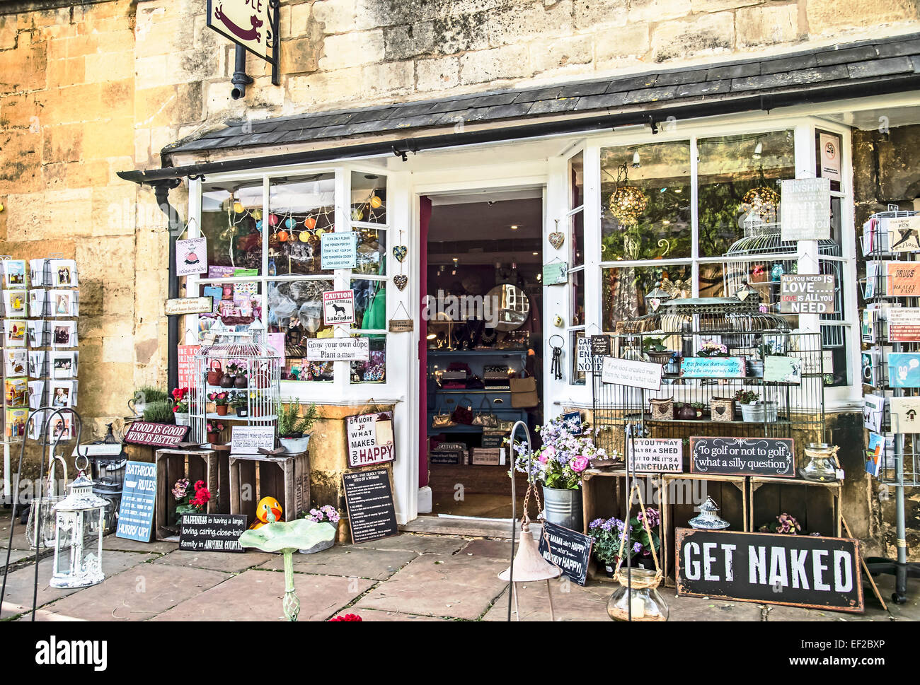 Souvenir shop in Chipping Camden - Stock Image