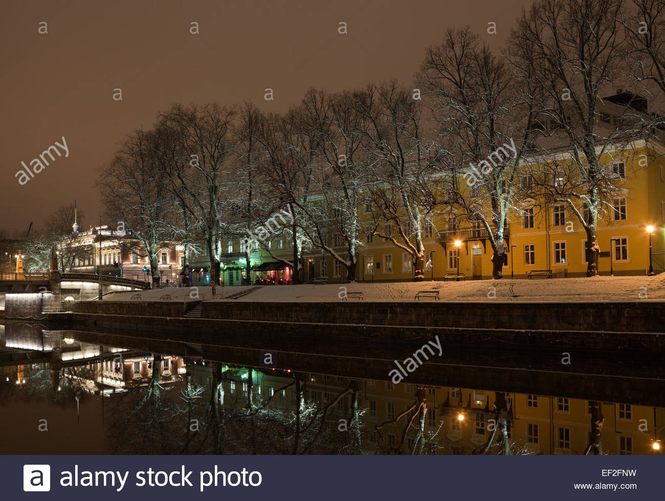Turku in an old town by the river Aura - Stock Image