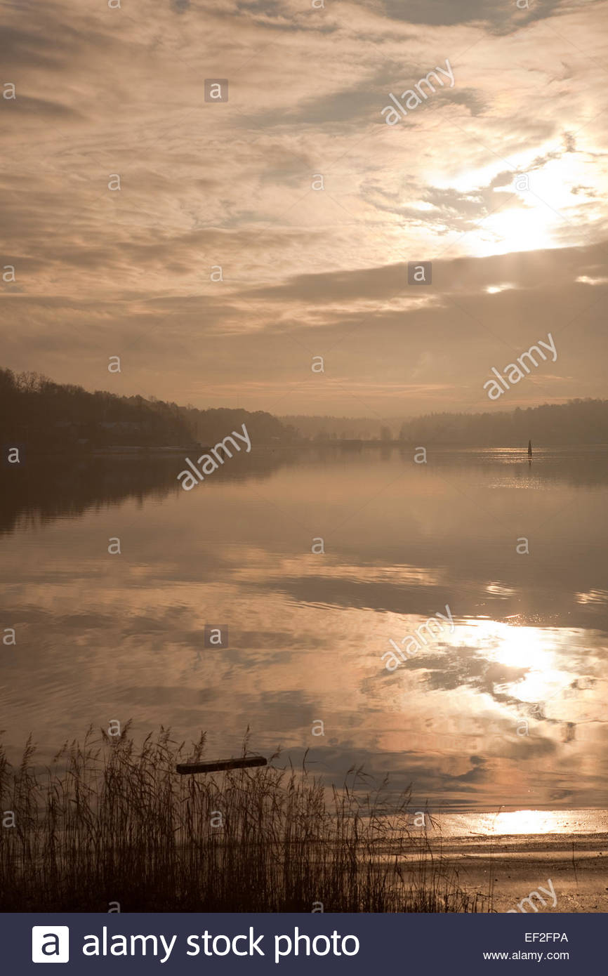 Calm winter day by the Baltic Sea - Stock Image