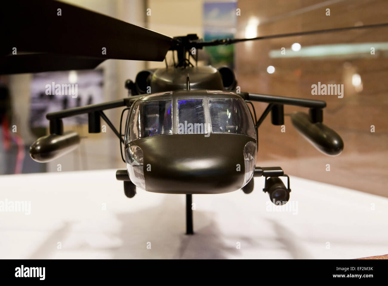 Model of Sikorsky UH-60 Black Hawk utility helicopter used by US Coast Guard - Stock Image