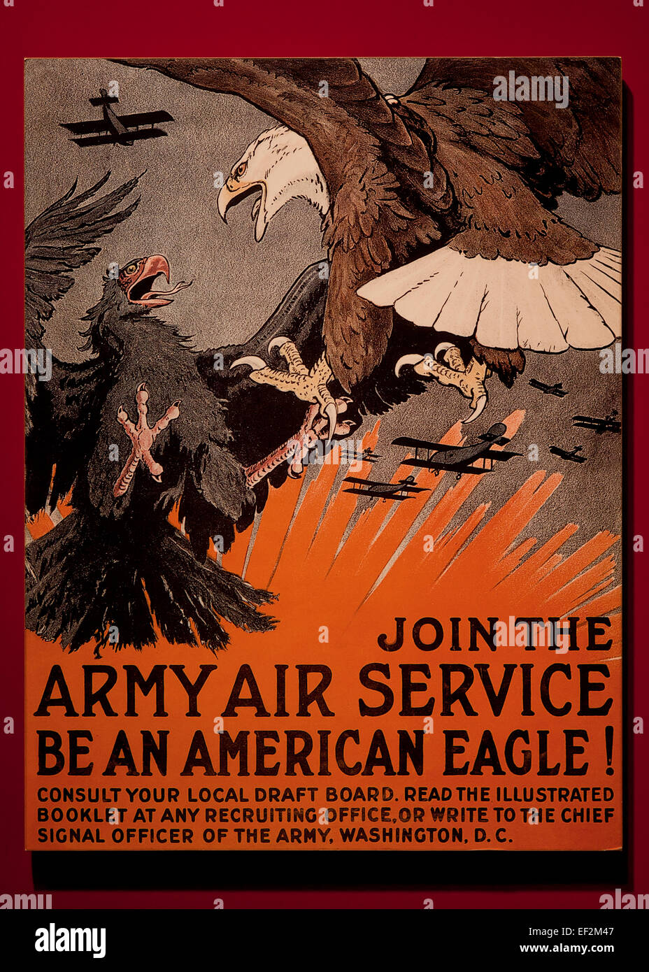 Join the Army Air Service poster from WWI, circa 1917 - USA - Stock Image