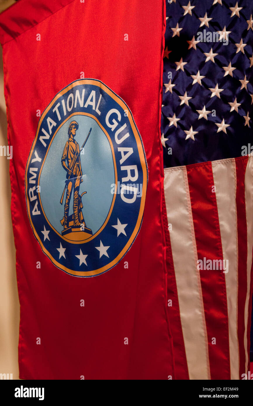 Army National Guard flag - USA - Stock Image