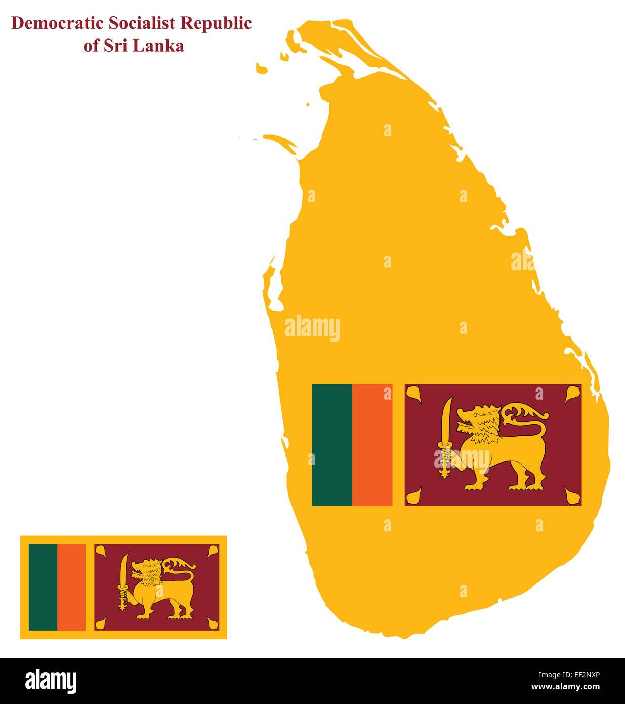 Flag of the Democratic Socialist Republic of Sri Lanka formally ...