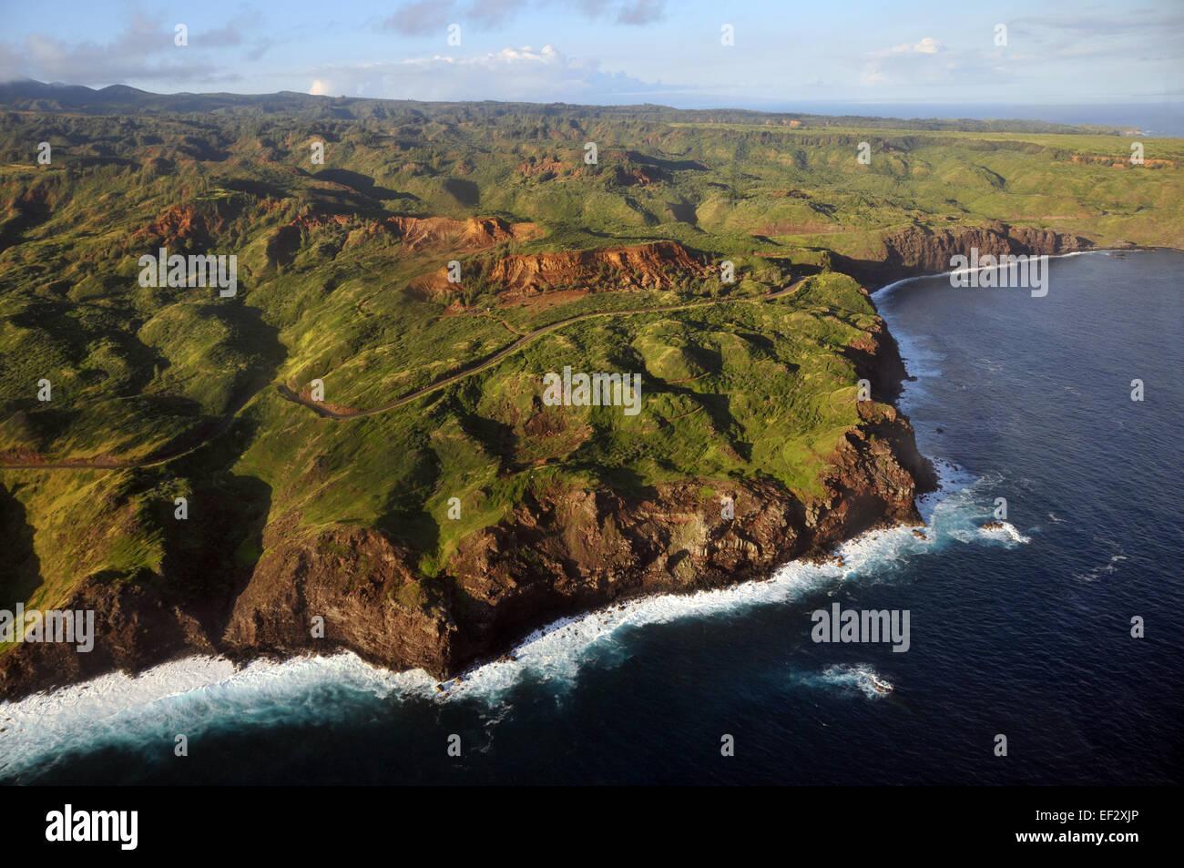 Aerial view of Maui, Hawaii Stock Photo